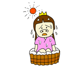 Pig Princess sticker #366689
