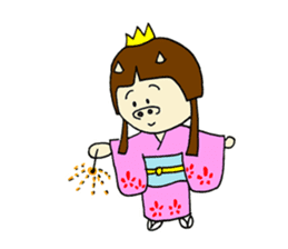 Pig Princess sticker #366694