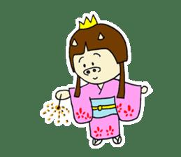 Pig Princess sticker #366694