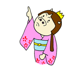 Pig Princess sticker #366696