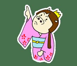 Pig Princess sticker #366696