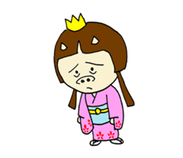 Pig Princess sticker #366697