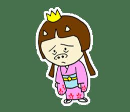 Pig Princess sticker #366697
