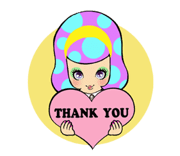 Retro pop girl sticker #366907