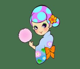 Retro pop girl sticker #366923
