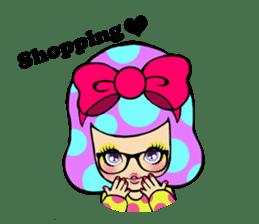 Retro pop girl sticker #366927