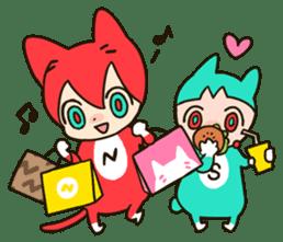 Nyankoro by Illustrator MAYA sticker #368381