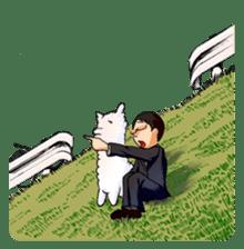 Alpaca and Mr. Sugiyama sticker #371873