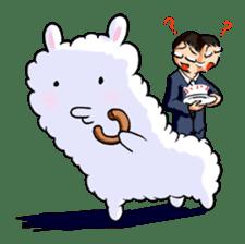 Alpaca and Mr. Sugiyama sticker #371875