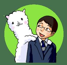 Alpaca and Mr. Sugiyama sticker #371879