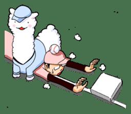 Alpaca and Mr. Sugiyama sticker #371885