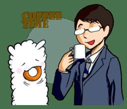 Alpaca and Mr. Sugiyama sticker #371898