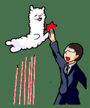 Alpaca and Mr. Sugiyama sticker #371900