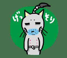 Samurai Cat sticker #371962