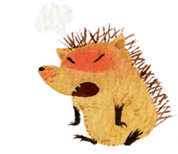 Hedgehog in the forest of mushroom sticker #372070