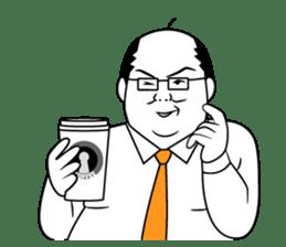 Funny Salaryman uncle sticker #372137
