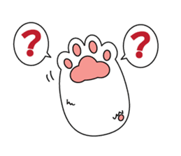 Cat's hand and Dog's tail. sticker #373164