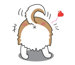 Cat's hand and Dog's tail. sticker #373165