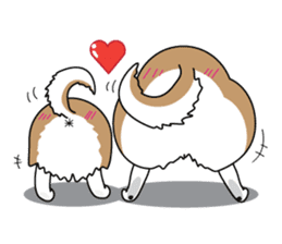 Cat's hand and Dog's tail. sticker #373167