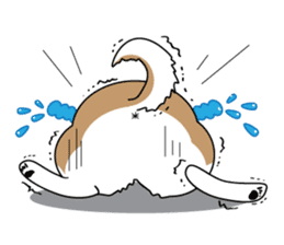 Cat's hand and Dog's tail. sticker #373171