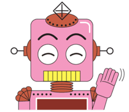 Retro Robot HUNDREF sticker #373785