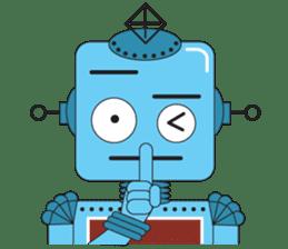 Retro Robot HUNDREF sticker #373786