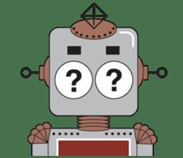 Retro Robot HUNDREF sticker #373787