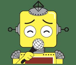 Retro Robot HUNDREF sticker #373789