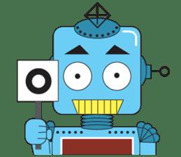 Retro Robot HUNDREF sticker #373790