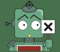 Retro Robot HUNDREF sticker #373791