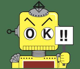 Retro Robot HUNDREF sticker #373792