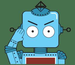 Retro Robot HUNDREF sticker #373794