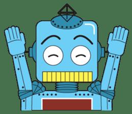 Retro Robot HUNDREF sticker #373795