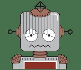 Retro Robot HUNDREF sticker #373796