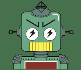 Retro Robot HUNDREF sticker #373797