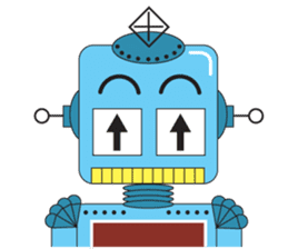 Retro Robot HUNDREF sticker #373798