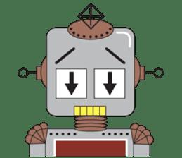 Retro Robot HUNDREF sticker #373799