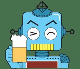 Retro Robot HUNDREF sticker #373802