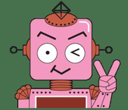 Retro Robot HUNDREF sticker #373805