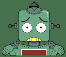 Retro Robot HUNDREF sticker #373808
