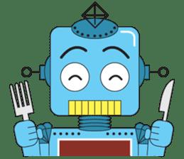 Retro Robot HUNDREF sticker #373809