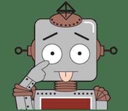Retro Robot HUNDREF sticker #373810