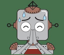 Retro Robot HUNDREF sticker #373812
