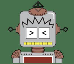 Retro Robot HUNDREF sticker #373816