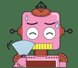 Retro Robot HUNDREF sticker #373818