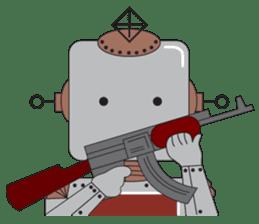 Retro Robot HUNDREF sticker #373819
