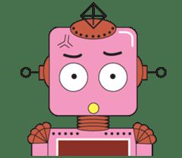 Retro Robot HUNDREF sticker #373821