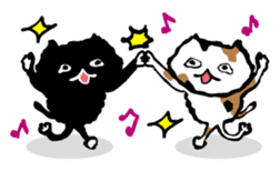 Animal Party2[Cat & Dog & Black Moor] sticker #374876