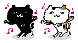 Animal Party2[Cat & Dog & Black Moor] sticker #374877