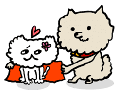Animal Party2[Cat & Dog & Black Moor] sticker #374900